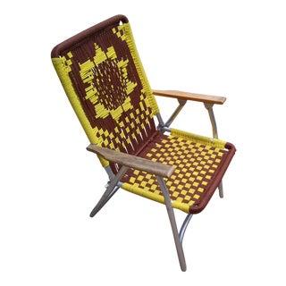 Hand Woven Aluminum Folding Chair