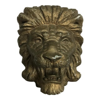 Antique Golden Lion Curtain Sconce