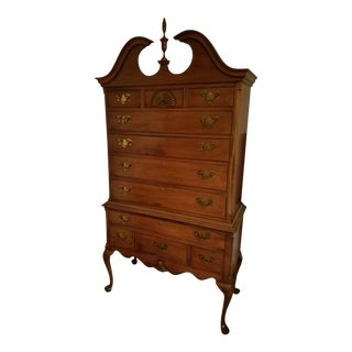 Henkel Harris Queen Anne Mahogany Highboy Chest