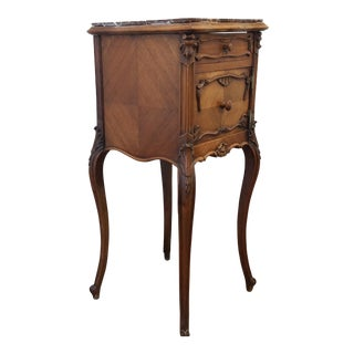 Antique Ca.1880 Louis XV Walnut Nightstand
