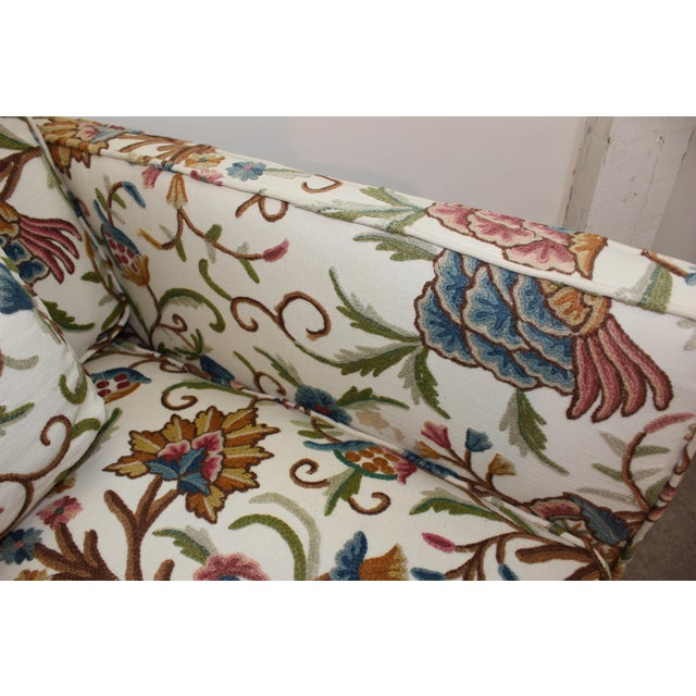 Mid-Century Modern Floral Sofa Settee - Image 5 of 10
