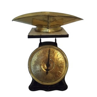 Antique Brass American Kitchen Scales