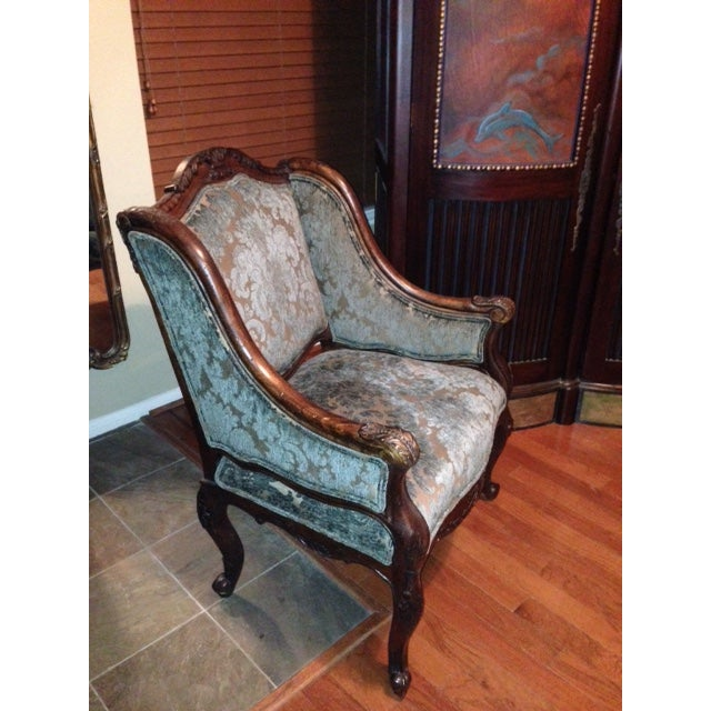 Handcrafted French Louis XV Style Bergere Chair - Image 3 of 10