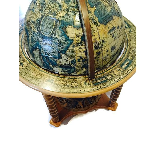 Mid-Century World Globe Bar Cart - Image 7 of 10