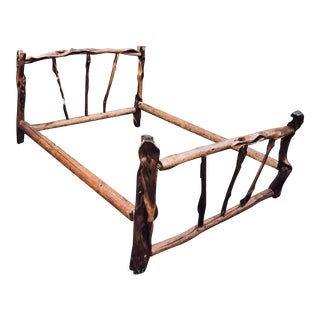 Old Western Saloon Queen Bed Frame