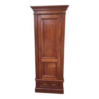 Victorian Linen Press with key
