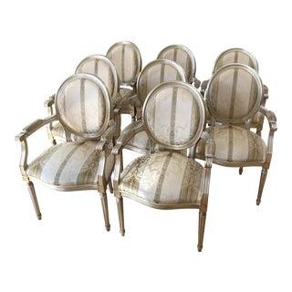 Gold Leaf Louis XVI Chair - Set of 8