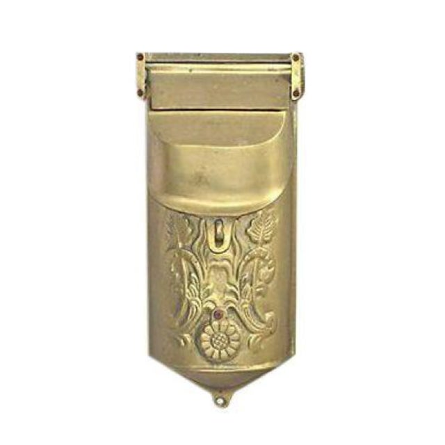 Vintage Brass Mailbox With Peephole - Image 1 of 11
