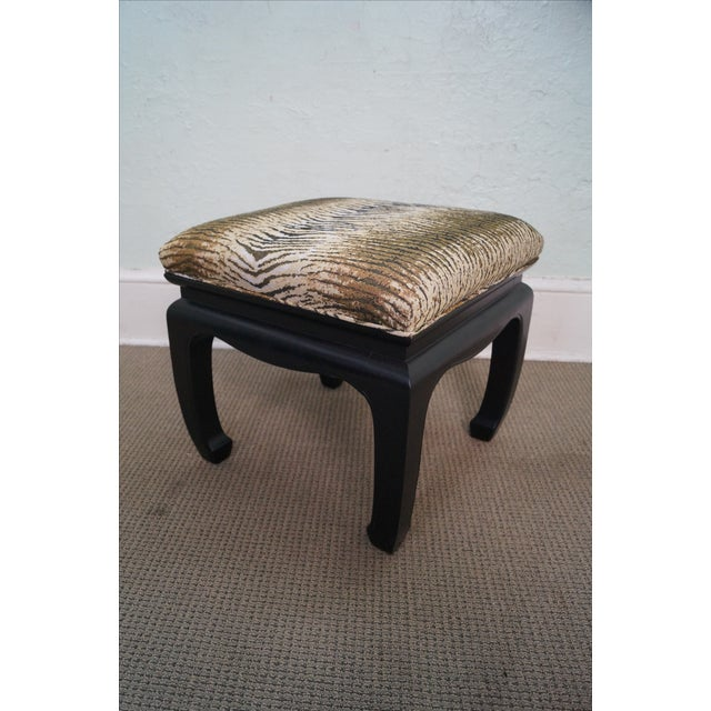 Ebonized Asian Influenced Ottoman/Benches - A Pair - Image 8 of 10