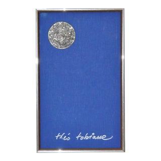 Theo Tobiasse (1927-2012) Framed King Solomon Medallion c.1975