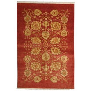 """New Ottoman Hand Knotted Area Rug - 4'2"""" x 6'1"""""""