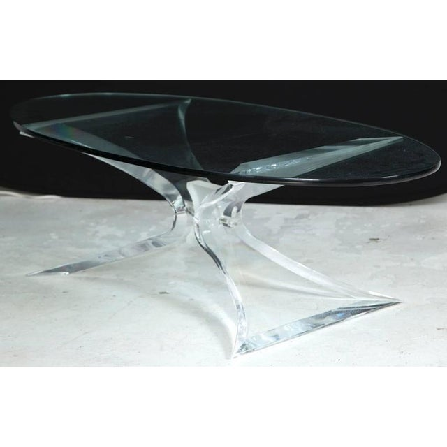 Lion in Frost Lucite Butterfly Coffee Table - Image 2 of 4