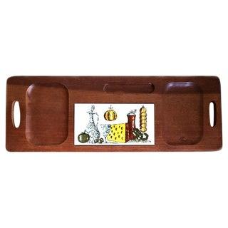 Mid-Century Hardwood Cheese Board