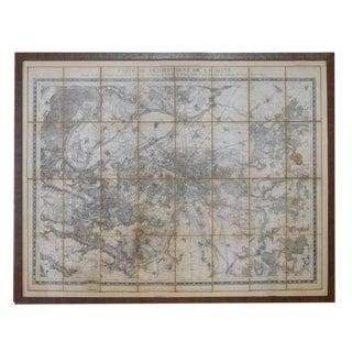 19th Century Map of Paris
