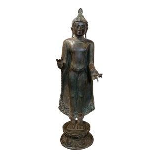 17th Century Pagan Standing Bronze Buddha