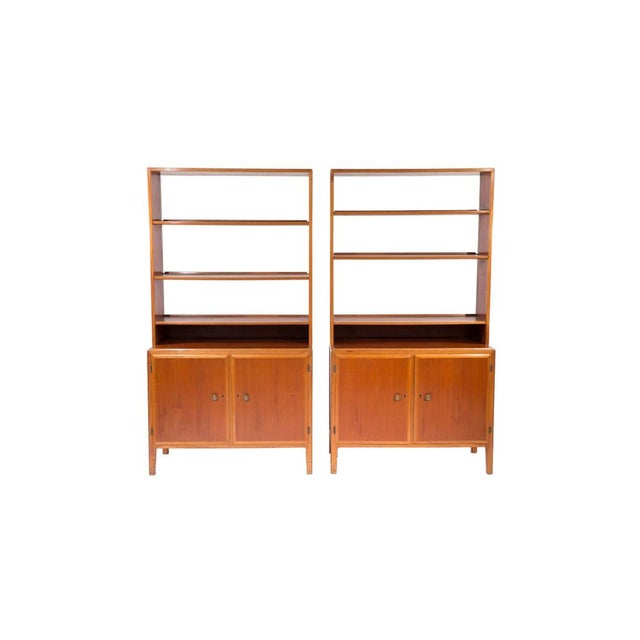 Mid-Century Swedish Bookcase Cabinets - A Pair - Image 1 of 9