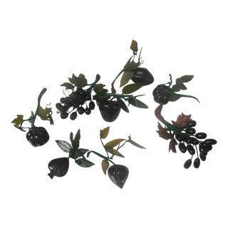 Jadeite Stone Fruit - Set of 8