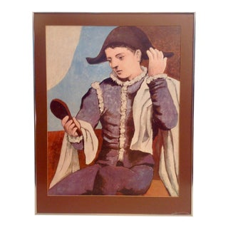 Picasso Harlequin Holding Mirror Lithograph