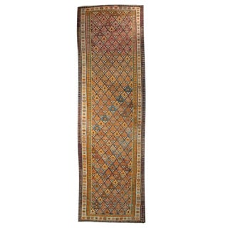 Early 20th Century Persian Qazvin Kilim Carpet Runner