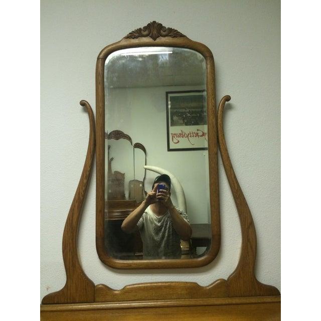 Solid Oak Antique Dresser/Vanity - Image 6 of 7