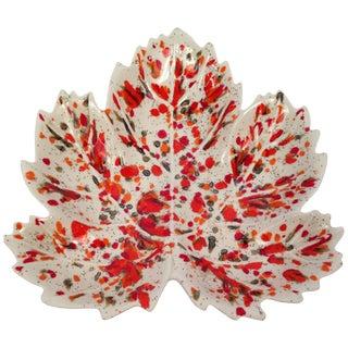 Glazed Leaf Catch All Dish