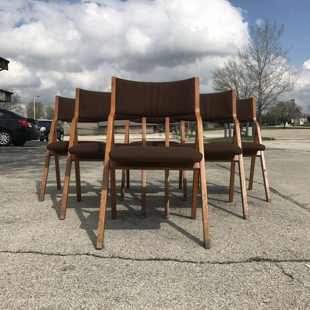 Mid-Century Modern Folding Chairs - Set of 6 - Image 3 of 8