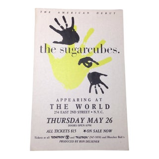 Vintage Bjork & the Sugarcubes Flyer