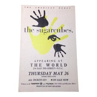 Vintage Bjork & the Sugarcubes Flyer