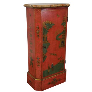 Vintage Hand-Painted Chinoiserie Cabinet