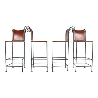 Industrial Leather Stools - 4