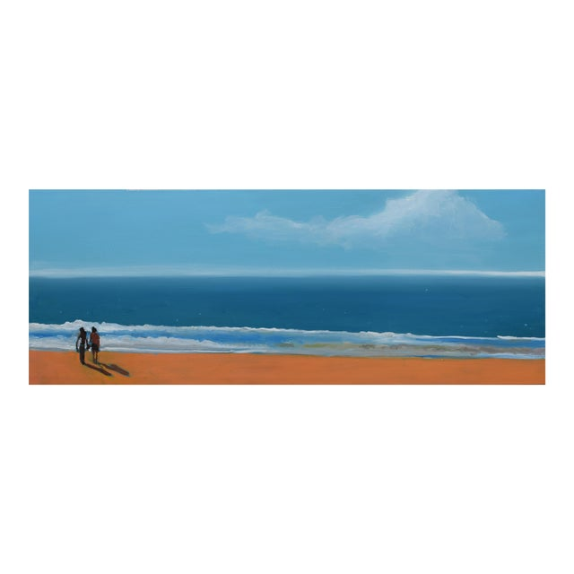 Small Sea With Couple Oil Painting - Image 1 of 10