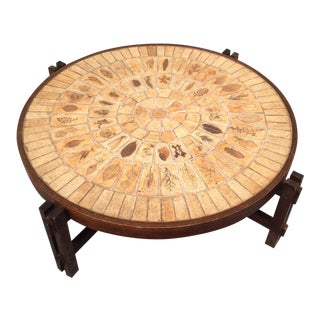 Roger Capron Wooden Coffee Table