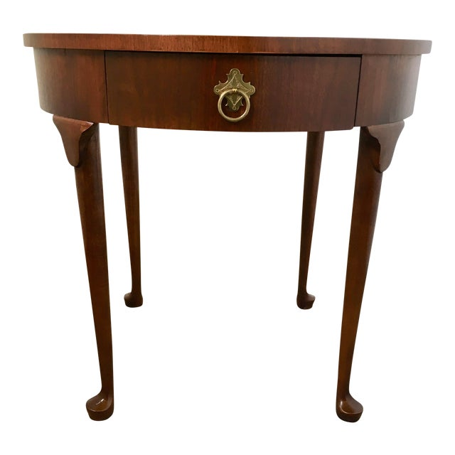 Baker Coffee Table Round: Baker Old World Round End Table