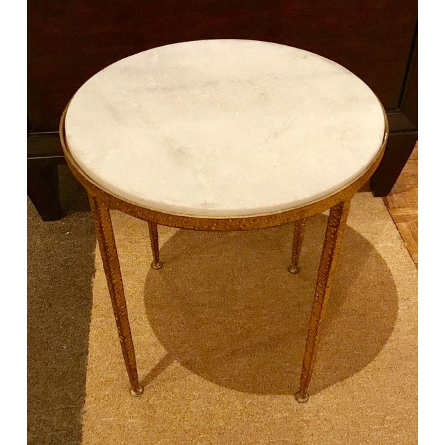 Arteriors Round Hammered Metal Table - Image 2 of 6