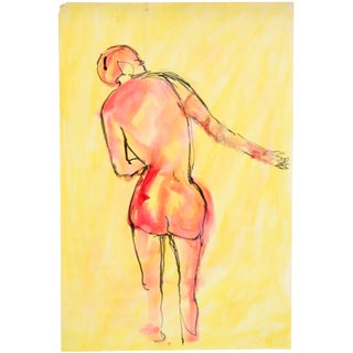 Red & Yellow Nude Figure Study by Jean Margolin