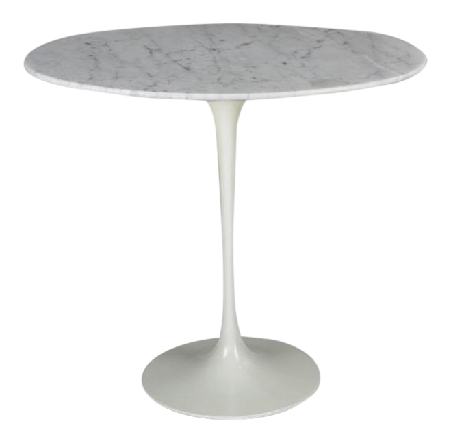 Vintage Eero Saarinen Marble Tulip Side Table by Knoll Chairish