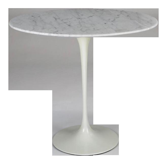 Vintage Eero Saarinen Marble Tulip Side Table By Knoll   Image 1 Of 10