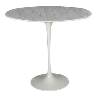 Vintage Eero Saarinen Marble Tulip Side Table by Knoll