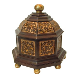 Decorative Tabletop Accent Lidded Octagon Box