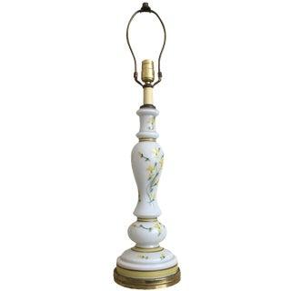 Vintage Yellow Rose Lamp