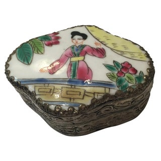 Hand-Painted Powder Box