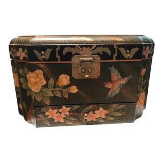 Black & Green Chinoiserie Jewelry Box