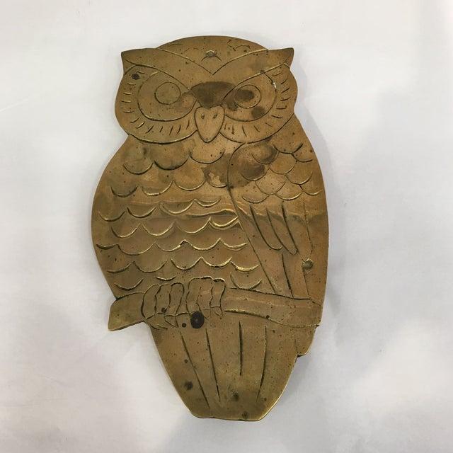 Vintage Brass Owl Trivet - Image 2 of 8