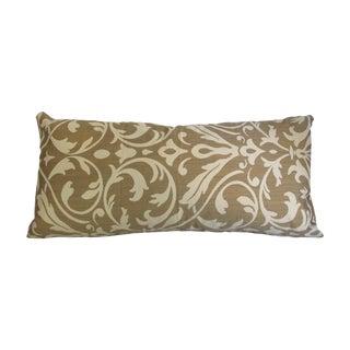 Gold Damask Bolster Pillow
