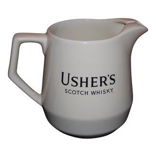Vintage Usher's Scotch Whiskey Pitcher