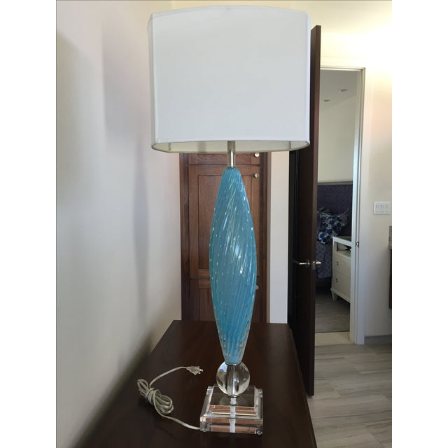 Murano Glass Table Lamps - Image 4 of 10