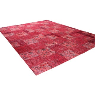 Red Turkish Patchwork Rug