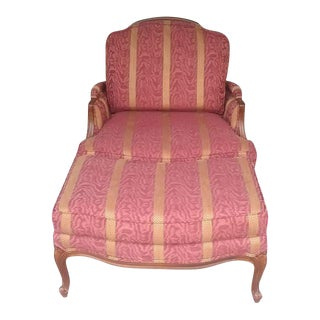 Ethan Allen French Bergere Chair & Ottoman