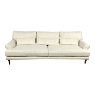 Beige Rolled Arm Sofa