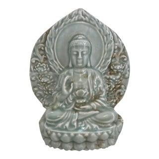 Celadon Ceramic Buddha Statue